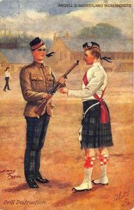 Drill Instruction Harry Payne Artist Raphael Tuck Postcard