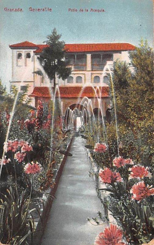 Patio de la Acequia Granada Spain Unused