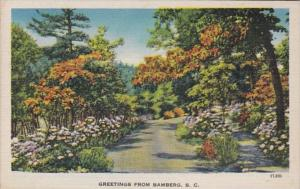 South Carolina Greetings From Bamberg 1937