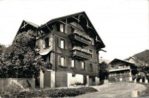 Switzerland Hotel Hirschen Hondrich RPPC 03.37
