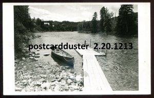 1213 - CAUSAPSCAL Quebec 1950s Riviere Matapedia. Canoe. Real Photo PostOld Cars