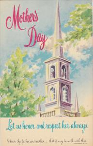 Church Steeple, Mother's Day, Let Us Honor & Respect Her Always, Ephesians 6:...