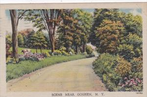 New York Scene Near Goshen 1954