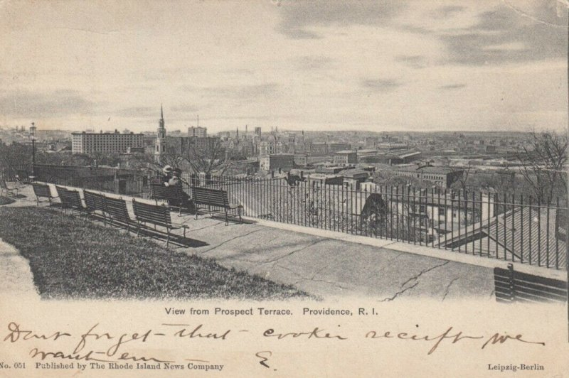 PROVIDENCE , Rhode Island , 1905 ; View from Prospect Terrace