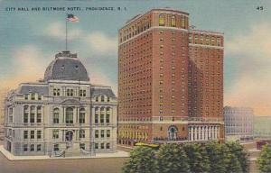 Exterior, City Hall and Biltmore Hotel, Providence, Rhode Island,30-40