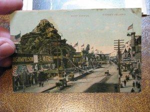 US Postcard Used Coney Island NY Surf Ave 1910 Postmark