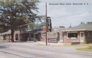 GREENWOOD , South Carolina , 50-60s ; Greenwood Motor Court