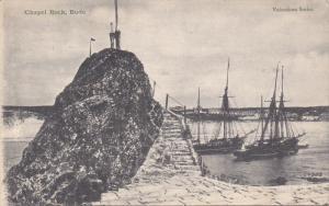 BUDE, Cornwall/ Sicilly Isles, England, 1900-1910's; Chapel Rock, Sail Ships