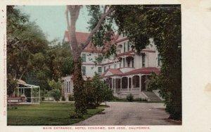 SAN JOSE , California , 1901-07 ; Main Entrance, Hotel Vendome