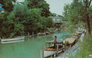 GRAND BEND , Ontario, 1950-60s ; Pleasure Boats on Aux Sables River