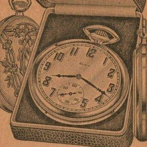 Chevy Chase Elgin Pocket Watch Quaker Valley MFG Aurora IL Vintage Advertisement