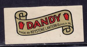 Keystone Lantern Dandy Decal Label