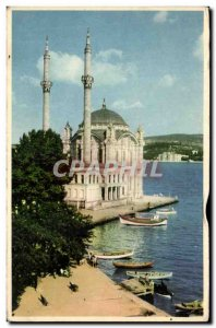 Old Postcard Camil Ortakor Ortakoy Istanbul Turkey turkey