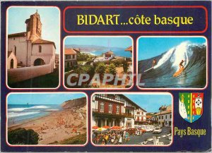 Postcard Modern Bidart (Pyr Atl) Village Basque Sea