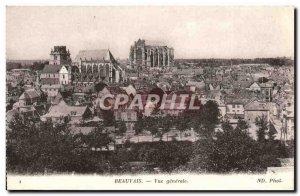 Old Postcard Beauvais Vue Generale