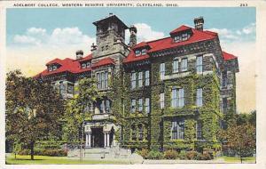 Exterior, Adelbert College, Western Reserve University, Cleveland, Ohio,  00-10s
