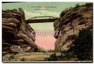 Postcard Old High Barr near Saverne The Dlable Bridge