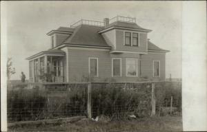 A Fine Residence in Dempster SD (Written on Back) c1910 Real Photo Postcard