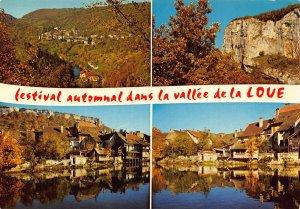 France La Vallee de la Loue Autumn Village Cottages River Postcard