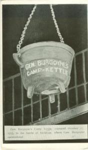 Gen Burgoyne's Camp Kettle, Battle of Saratoga old unused...