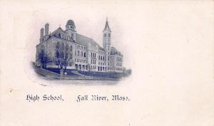 High School, Fall River, Massachusetts, Very Early Postcard, Unused