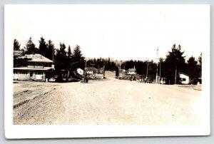 Sextus City MN~International Bridge~Border Crossing~Hotel~Beer Garden~1940 RPPC