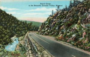 Postcard Royal Gorge Arcadia Valley Missouri