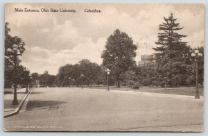 Columbus Ohio State University~Main Entrance Past The Armory w/Battlements~c1910