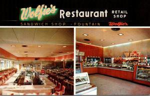 Florida St Petersburg Wolfie's Restaurant & Fountain 1961