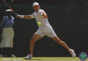 Andre Agassi Wimbledon Tennis Championship Postcard