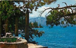 Lake Tahoe Nevada CA~Mt Tallac and Cross~1960 Atkinson Postcard