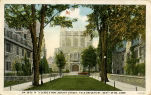 CT - New Haven - Yale University. University Theatre from Library Street