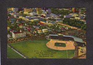 FL Al Lang Baseball Field St Petersburg Florida Linen Postcard