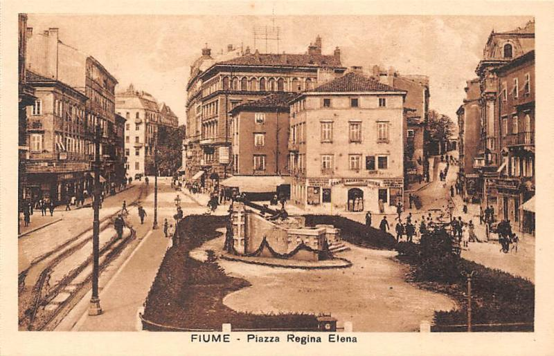Croatia Fiume Piazza Regina Elena Square Street Shops