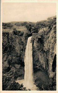 Cameroon Waterfall near Mbengwi Grassfield Vintage RPPC 07.32