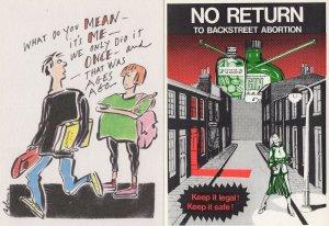Backstreet Anti Abortion Pregnancy 2x Political Postcard s