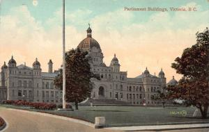 Parliament Buildings, Victoria, British Columbia, Canada, Early Postcard, Unused