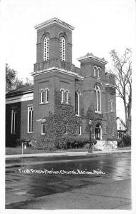 Adrian Michigan~Ivy-First Presbyterian Church~1940s Postcard RPPC