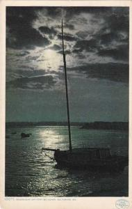 Moonlight off Fort McHenry - Baltimore MD, Maryland - DB - Detroit Publishing