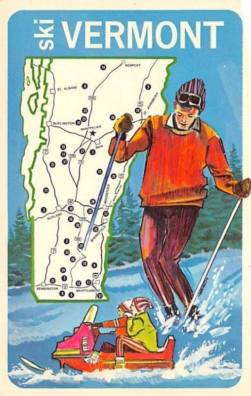 Ski Vermont Snow Skiing Unused