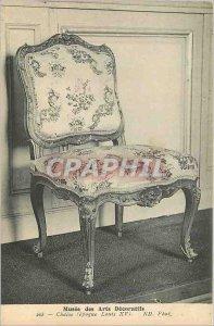 Old Postcard Musee des Arts Decoratifs Chair (Louis XV)