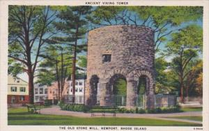 Rhode Island Newport Old Stone Mill Ancient Viking Tower 1946