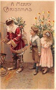 Red Robe, Hold To Light Santa Claus, Chirstmas, 1908