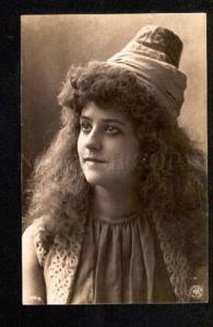 047846 Lady w/ Long Hair HAREM vintage FALK N.Y. Photo PC