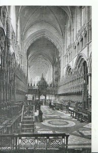 Cheshire Postcard - Choir West - Chester Cathedral - Ref 17874A