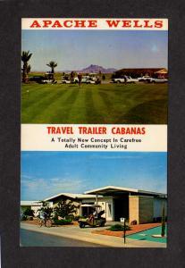 AZ Apache Wells Mobile City Travel Trailer Park Cabanas Mesa Arizona Postcard