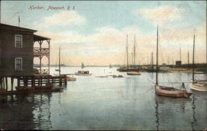 Newport RI Harbor c1910 Postcard #2