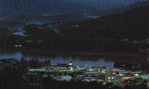 Night View, Town of Peace River, British Columbia, Canada, 40-60´s