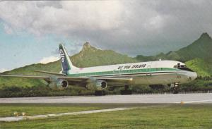 Air New Zealand airplane on air strip, PU-1976