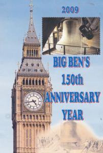 Big Ben London Clock 2009 Anniversary Year Rare Celebration Postcard